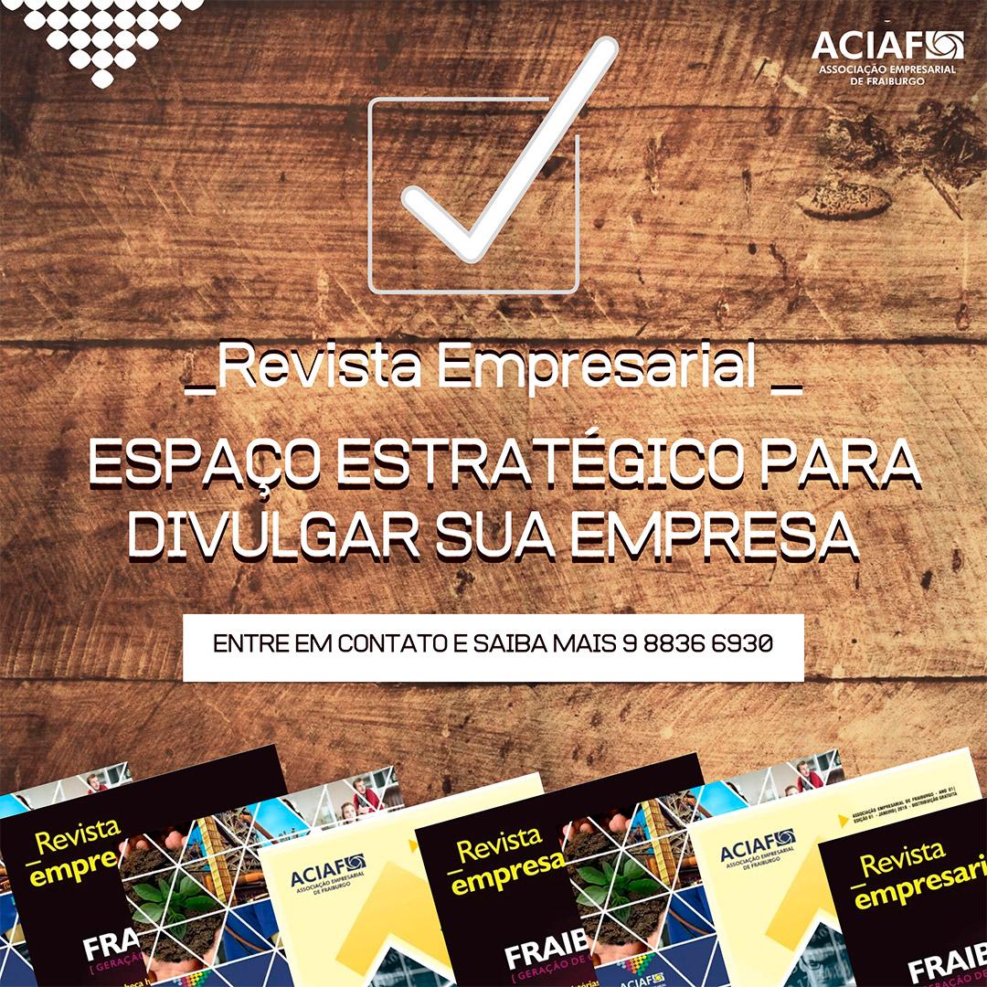 Vem aí mais uma edição da Revista Empresarial da ACIAF