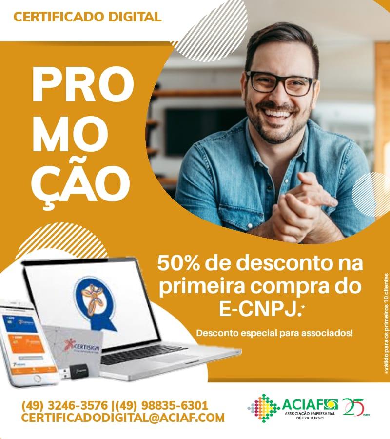 ACIAF lança promoção especial no Certificado Digital