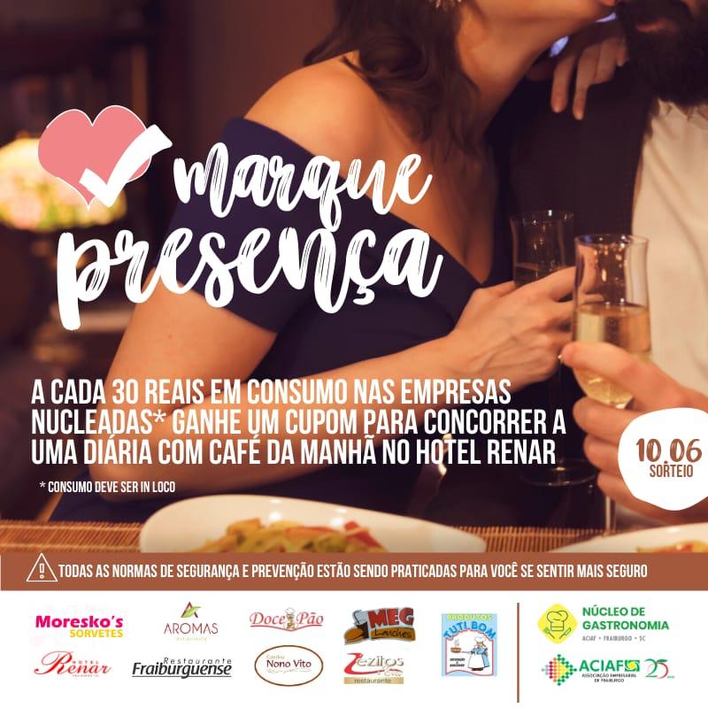Núcleo de gastronomia promove ação especial do dia dos namorados