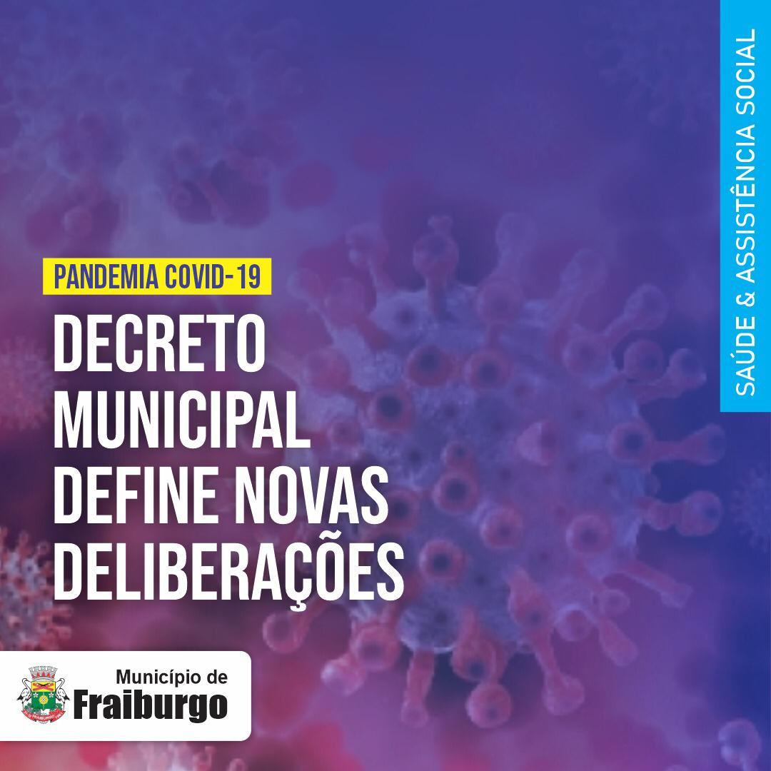 Fraiburgo divulga novo decreto para enfrentamento à Pandemia
